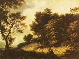 Roelant Roghman - Landscape with Figures