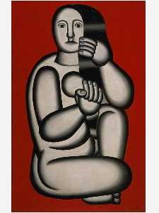 Fernand Leger - Nude on a Red Background