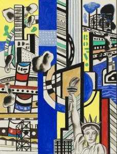Fernand Leger - Study for Cinematic Mural, Study I