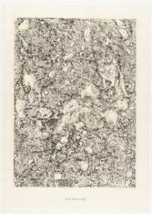 Jean Philippe Arthur Dubuffet - The Corroded Rock (Le rocher rongé) from the portfolio Waters, Stones, Sand (Eaux, Pierres, Sable) from Phenomena (Les Phénomènes)