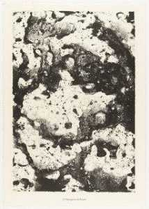 Jean Philippe Arthur Dubuffet - Rocky Cloud Formation (Nuagerie rocheuse) from the portfolio Waters, Stones, Sand (Eaux, Pierres, Sable) from Phenomena (Les Phénomènes)
