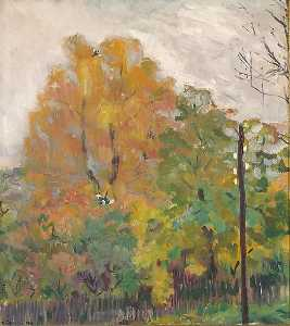 Bernhard Folkestad - Deciduous trees in fall suit with cuts