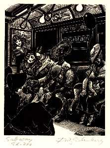 Fritz Eichenberg - The Subway