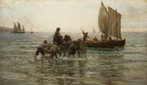 John Thomas Hamilton Macallum - The Return of the Lance Fishers, Heligoland