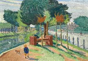 Harry Kernoff - Canal, Wilton Place