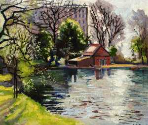 Albert Edward Turpin - Lakeview Estate, Old Ford Road, from Victoria Park Boating Lake