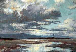 Millicent Emily Ayrton - Hilbre Island at Low Tide