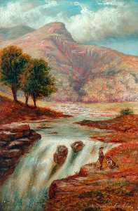 George H Blackburn - Falls of Tummel, Perthshire