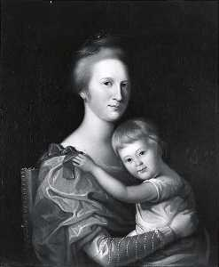 Charles Willson Peale - Mrs. John Brice and Daughter, (painting)