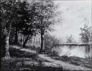Sopha Orene Bacon Bennett - Path by the Pond, (painting)