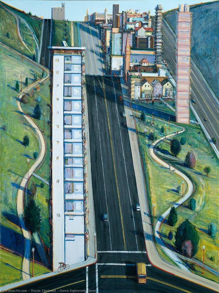famous painting Down Eighteenth Street of Wayne Thiebaud