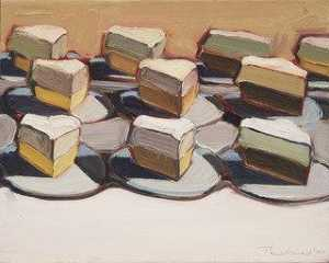 Wayne Thiebaud - Cut Meringues