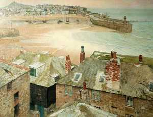 Thomas Maidment - The Old Harbour, St Ives