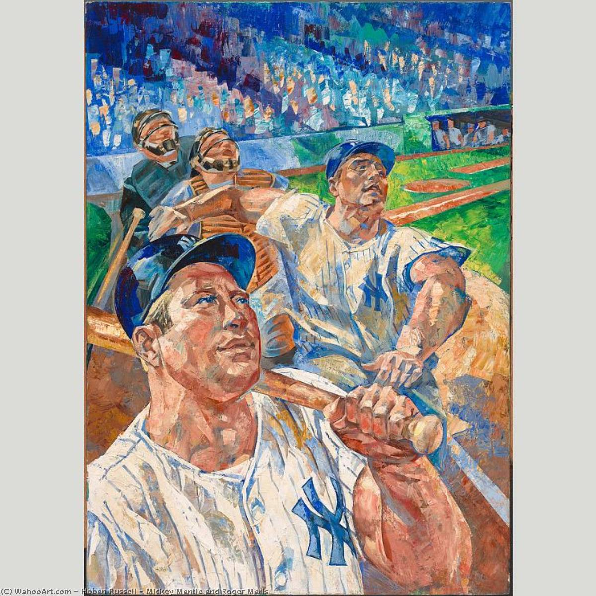 famous painting Mickey Mantle and Roger Maris of Hoban Russell