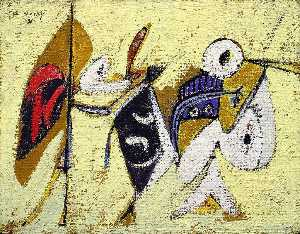 Arshile Gorky - Battle at Sunset with the God of Maize (Composition No. 1)