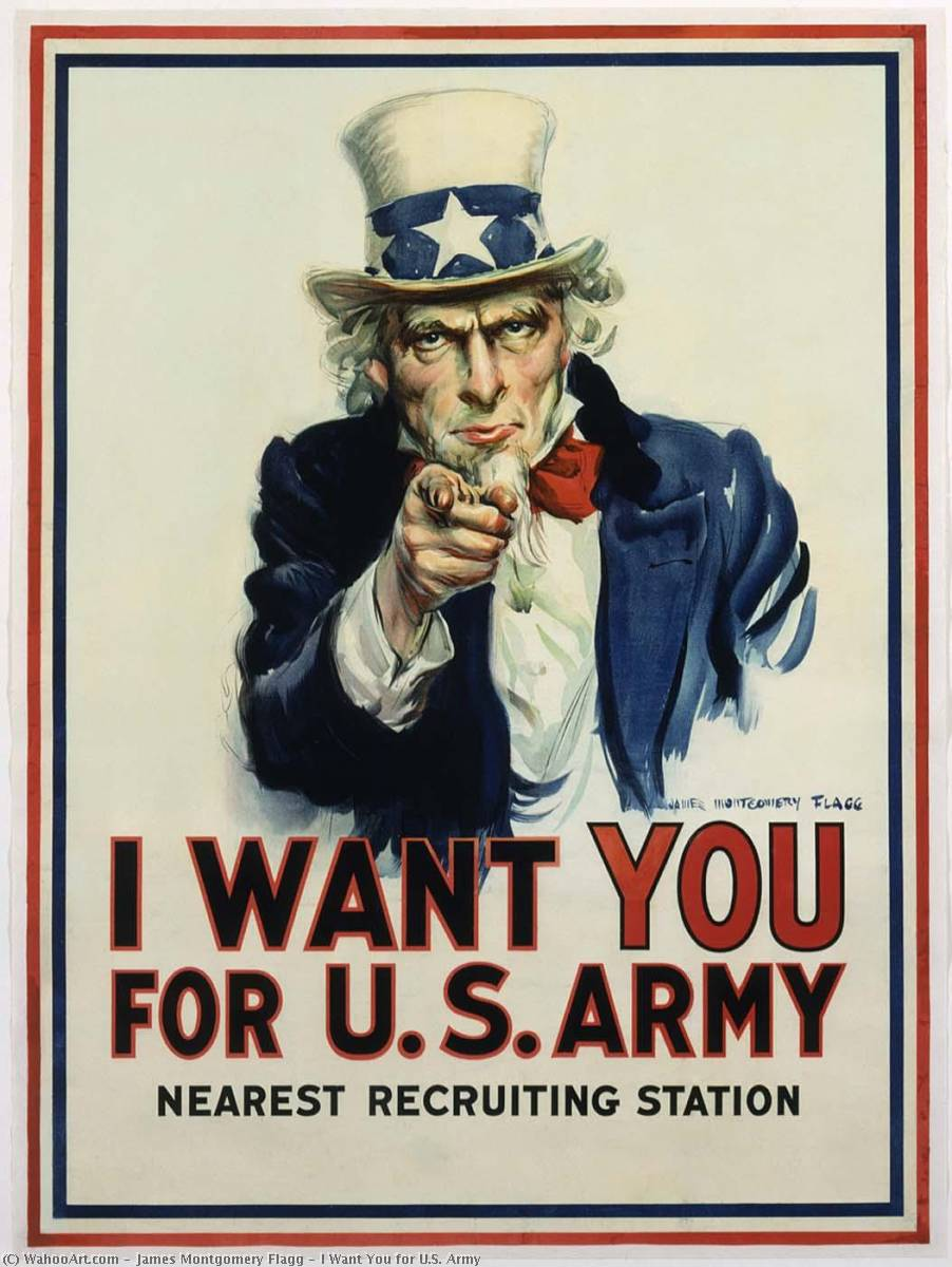 famous painting I Want You for U.S. Army of James Montgomery Flagg