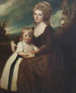 George Romney - Frances Bankes (1756–1847), Lady Brownlow, with Her Son, The Honourable John Cust (1779–1853), Later 1st Earl Brownlow, GCH, FRS, MP