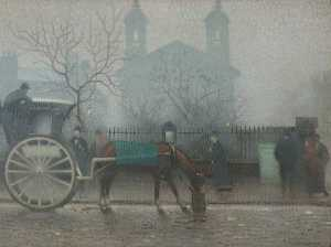 Pierre Adolphe Valette - Hansom Cab at All Saints