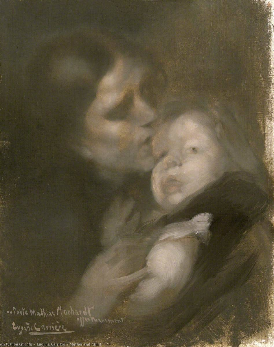 famous painting Mother and Child of Eugène Anatole Carrière