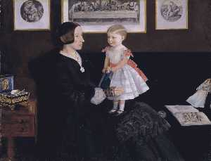 John Everett Millais - Mrs. James Wyatt, Jr. and her Duaghter Sarah