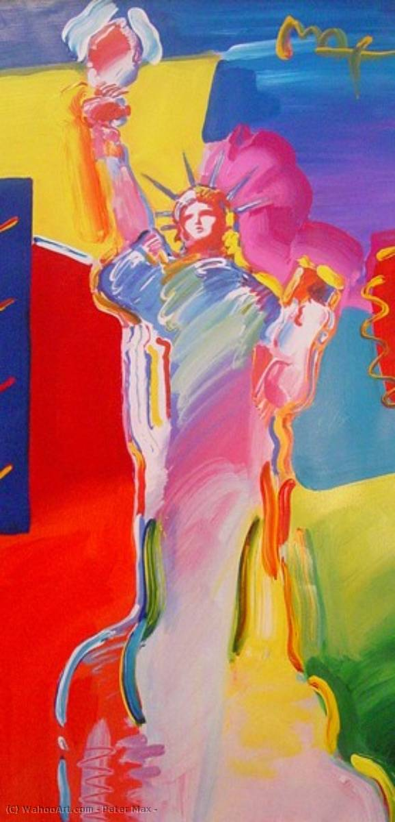 famous painting Statue of Liberty of Peter Max